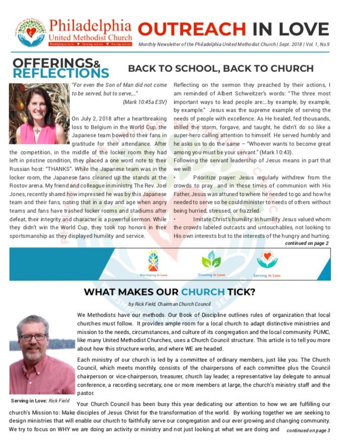 2018 Sept Newsletter