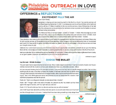 Outreach in Love – Sept.